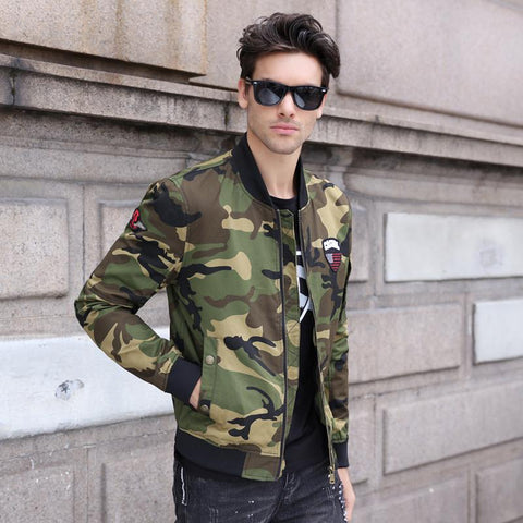 Men's Camouflage Bomber Jacket Men