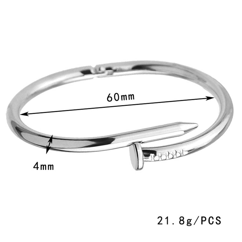 Ladies Open Bangle Nail Bracelet