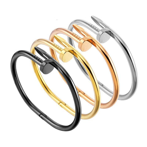 Image of Ladies Open Bangle Nail Bracelet