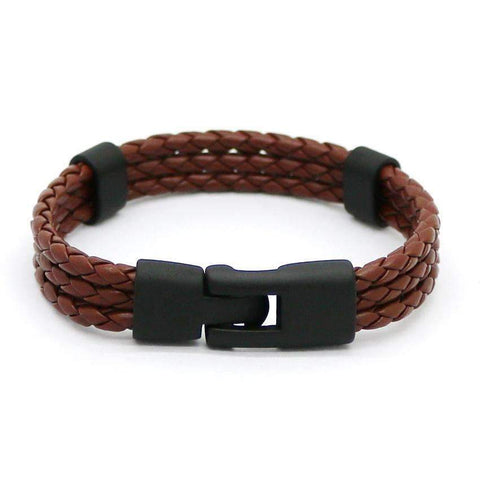 Braided Leather Skull Head Bracelet [ 4 Variation ]