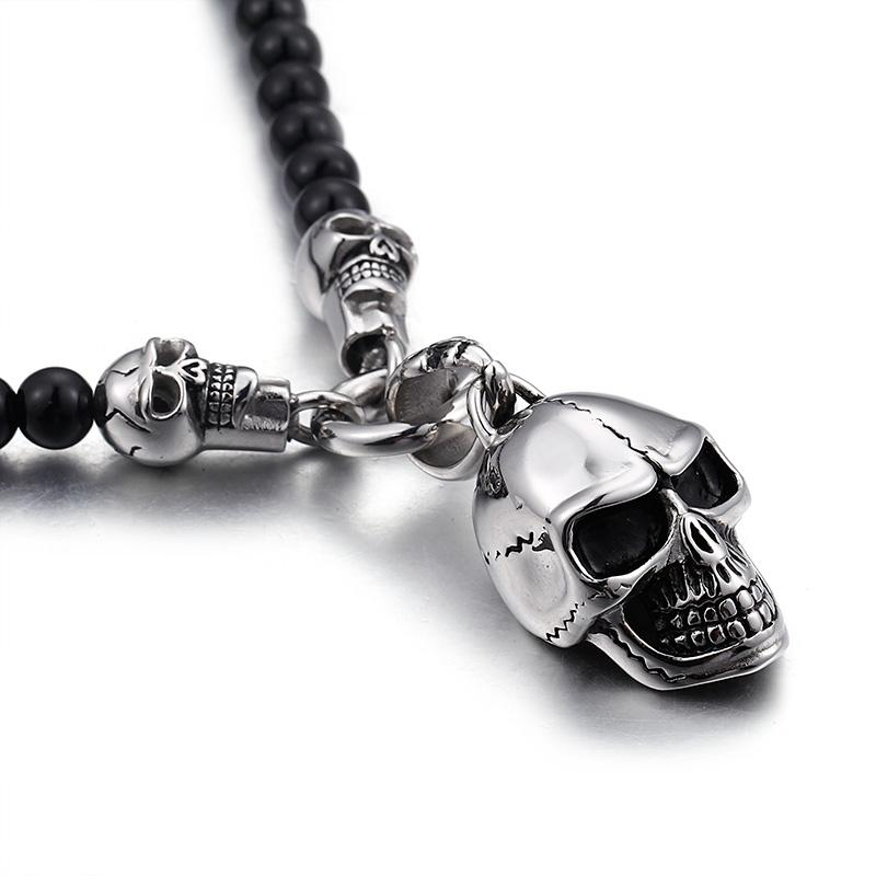 Smiling Skull Head Necklace
