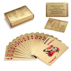 24k Gold Foil Plating Playing Cards with Certificate And Box
