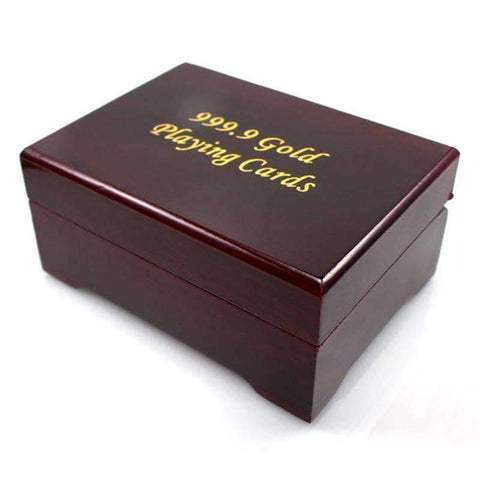 Image of 24k Gold Playing Cards with Certificate And Box