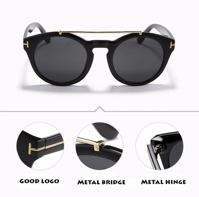 Clint Sunglasses Classic Round Frame Glasses