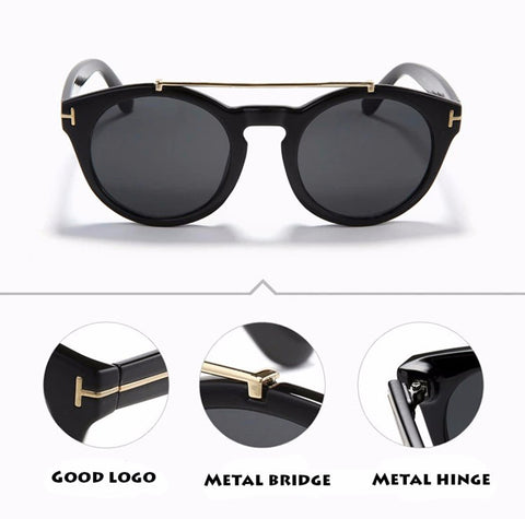 Image of Clint Sunglasses Classic Round Frame Glasses