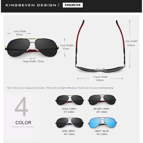 Aluminum HD Polarized Driving Sunglasses