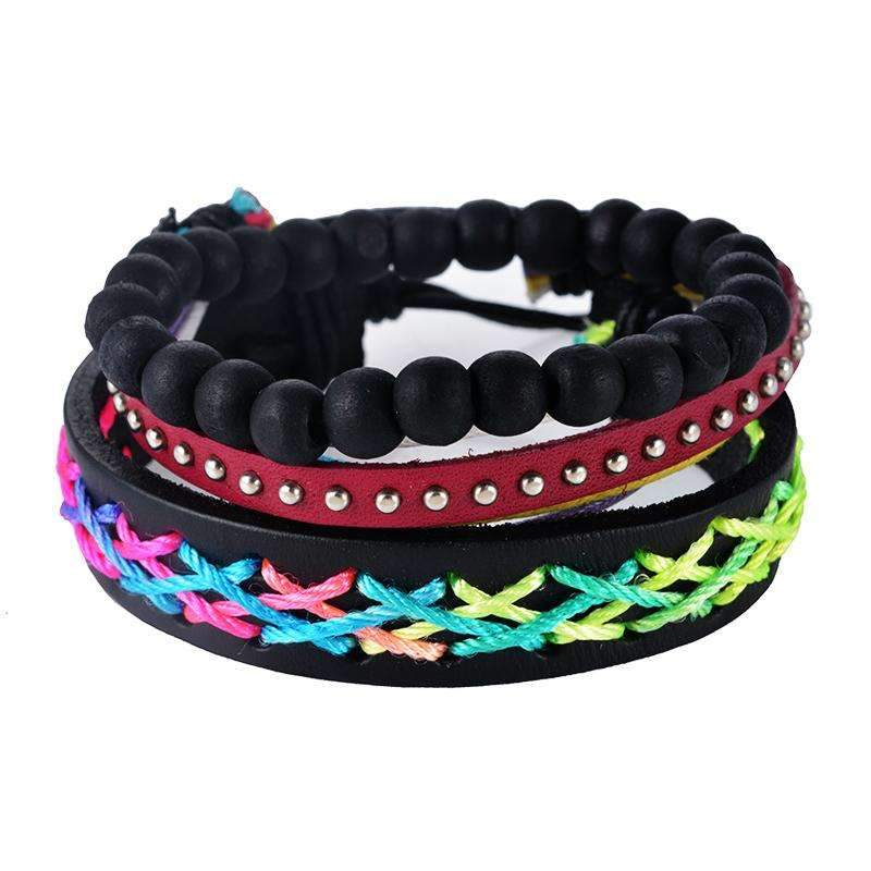 Multilayer Braided Leather Bracelet - [12 Variants]