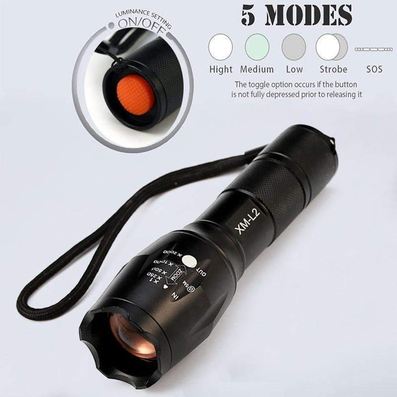Tactical Flashlight 8000 Lumens