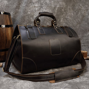 High Quality Crazy Horse Leather Duffle bag