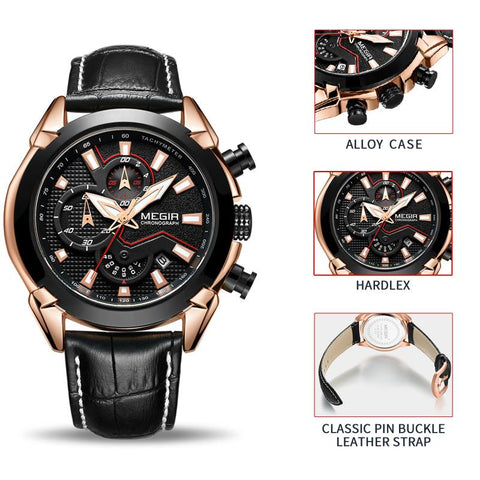 Image of Mens Leather Classic Watch