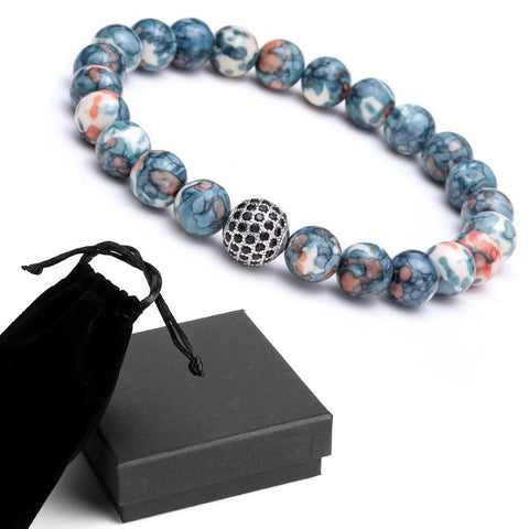 Image of Mens Disco Ball Bracelet  With Colorful Stones