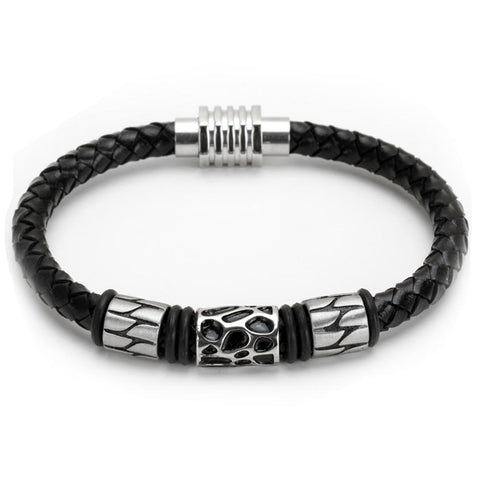 Image of Black Leather Bracelet