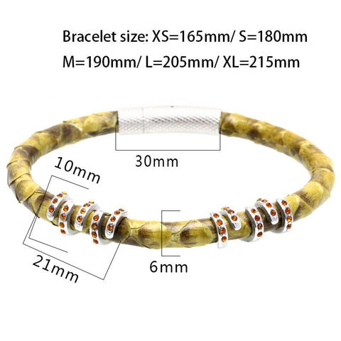Mens Genuine Python Leather Bracelets