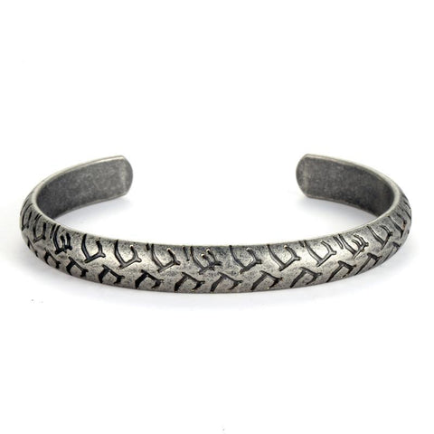 Image of Retro Engraved Mens Bangle