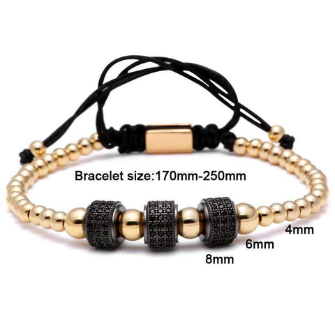 Image of Titanium Steel Ball & 8mm Micro Pave Beads Bracelet [ 4 Variation ]