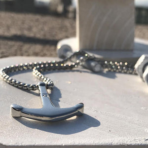 Stainless Steel Anchor Pendant Necklace