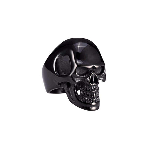 Image of Men's Stainless Steel Black Skull Ring [ 4 variation ]
