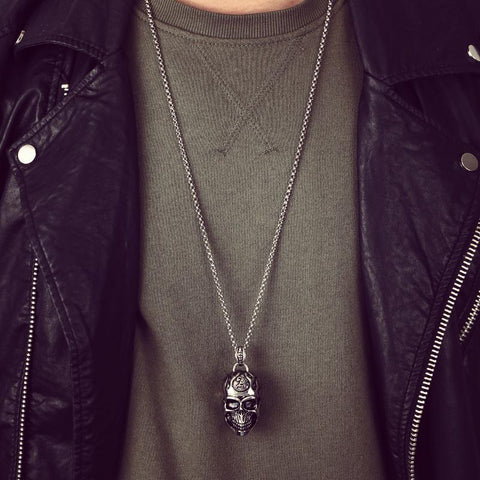 Image of Titanium Skull Necklace