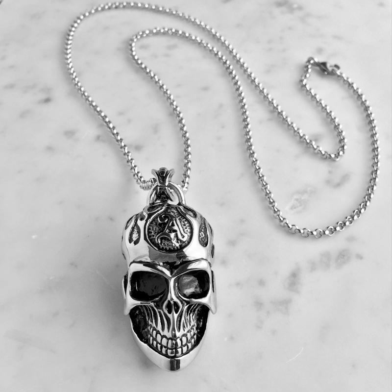Titanium Skull Necklace
