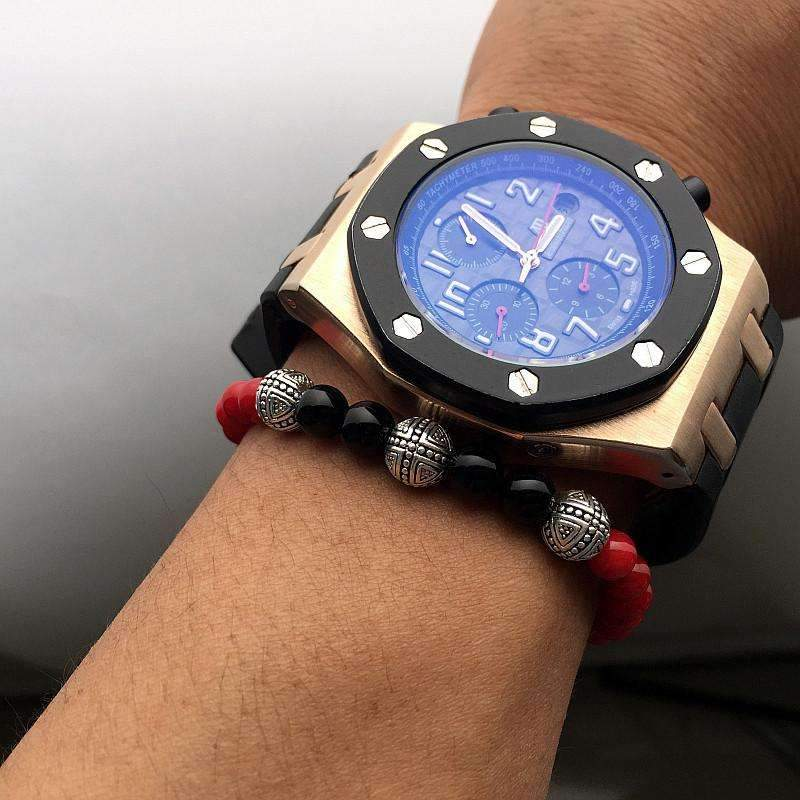 Mens Red Beaded Bracelets