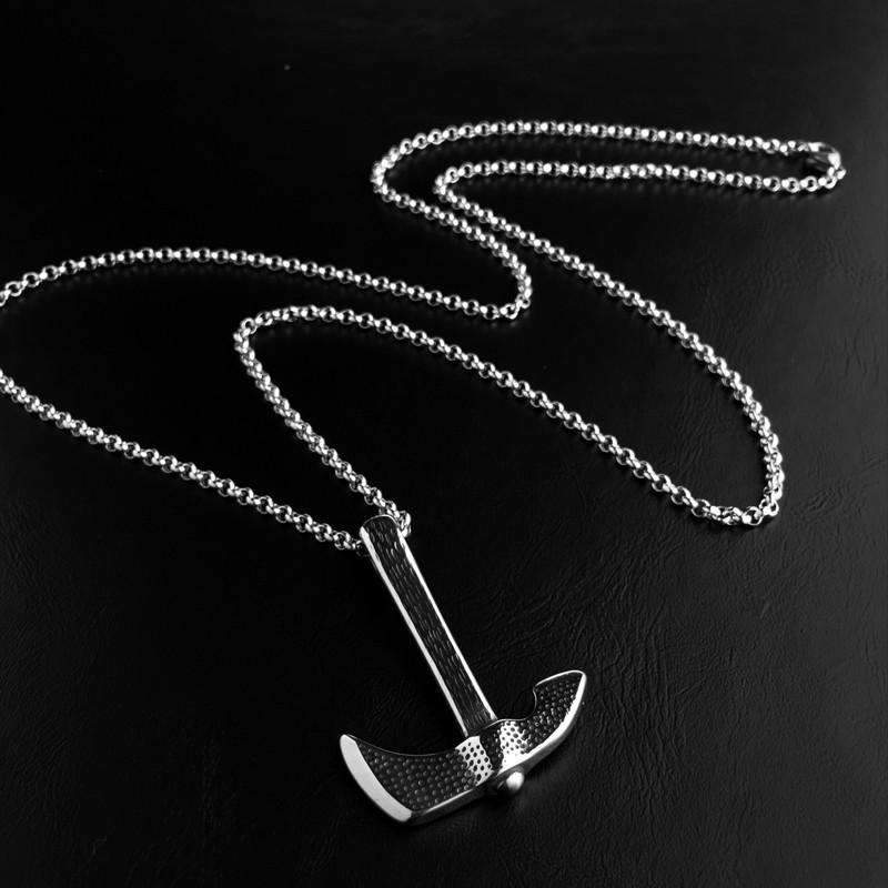 Titanium Steel Axe Pendant Necklaces