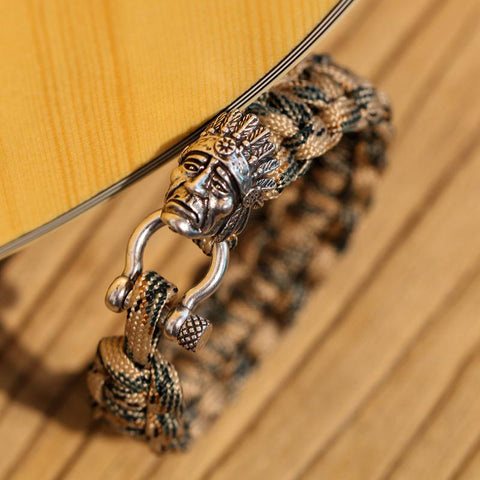 Image of Indian Chief Paracord Bracelet
