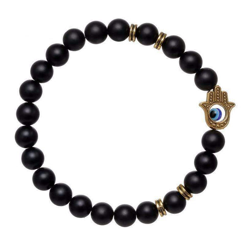 Image of Hamsa Hand & Buddha Beaded Bracelet