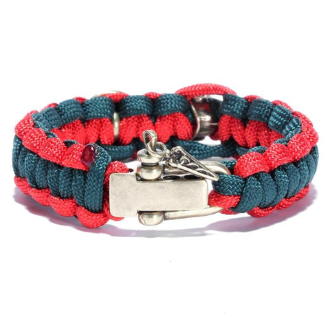 Spartan Helmet and Shield Paracord Bracelet