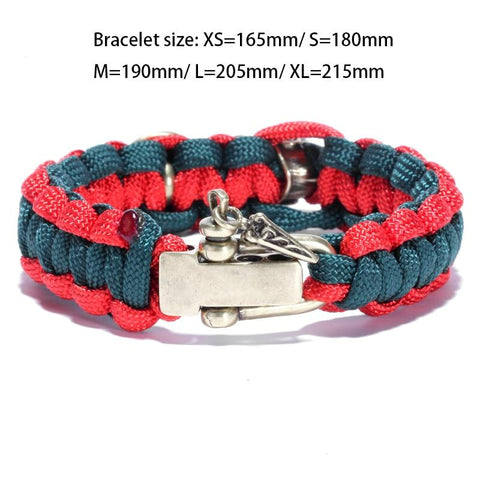 Image of Spartan Helmet and Shield Paracord Bracelet