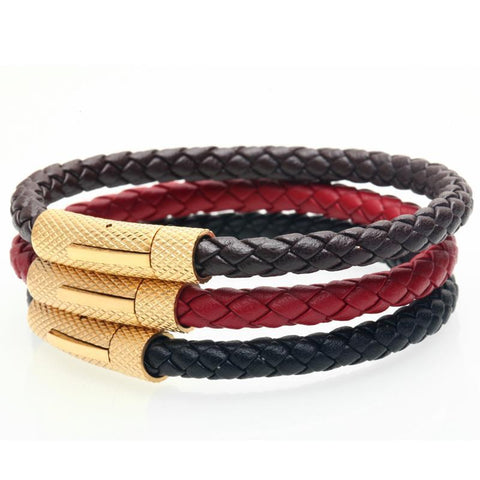 Image of Casual Braided Leather Bracelet [ 3 Color ]