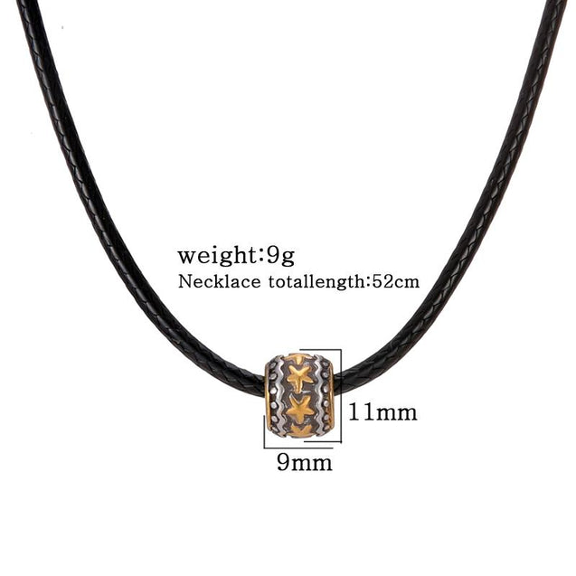 Leather Necklace With Star Pendant