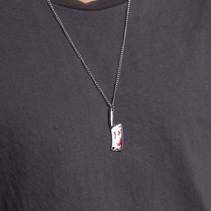 Meat Cleaver Pendant Necklace 24 inches Halloween Jewelry