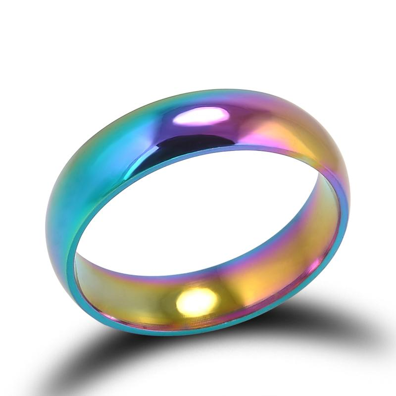 Rainbow Ring - Titanium Steel