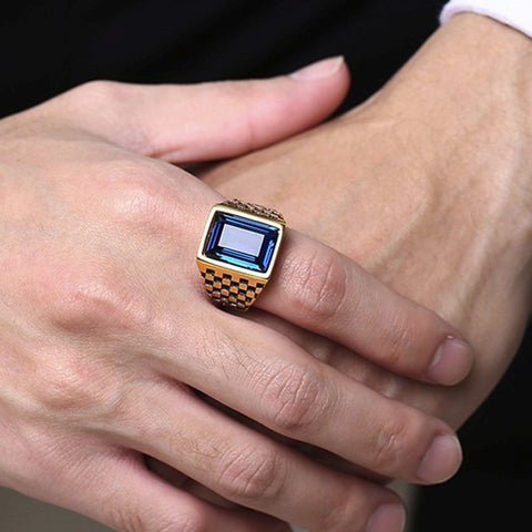 Image of mens signet rings