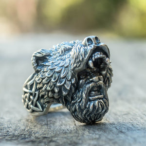 Viking Bear Warrior Rings Vintage Vikings Nordic Jewelry