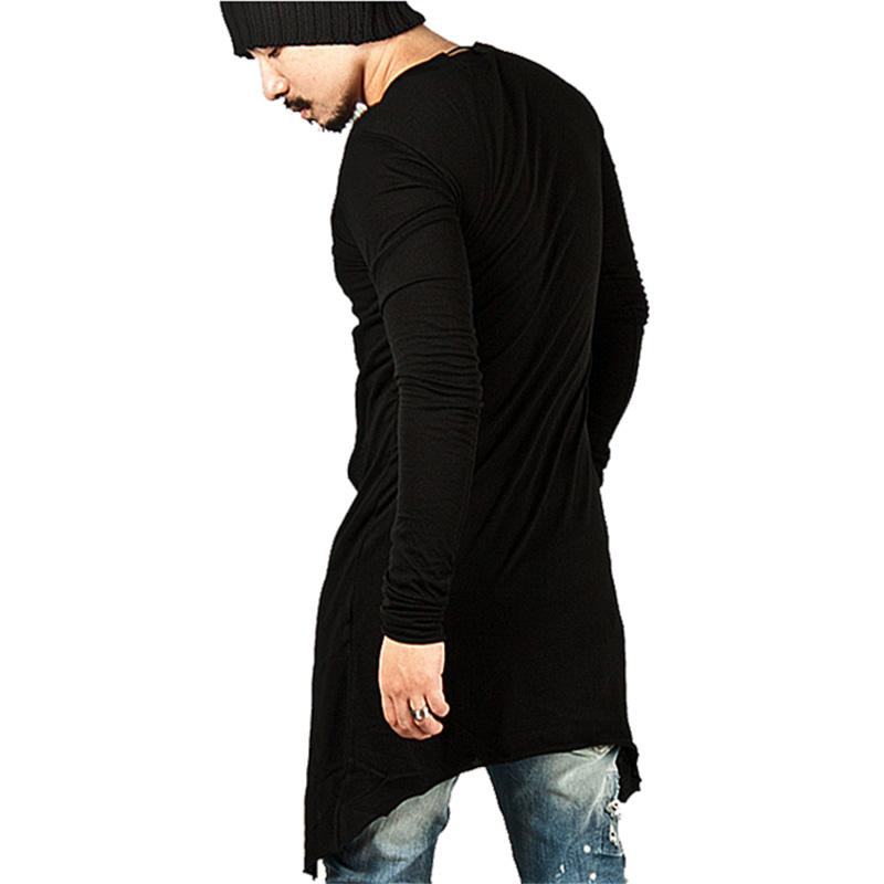 Men back Longline Hem T-Shirt
