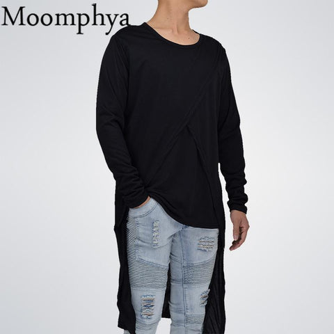 Image of Men back Longline Hem T-Shirt