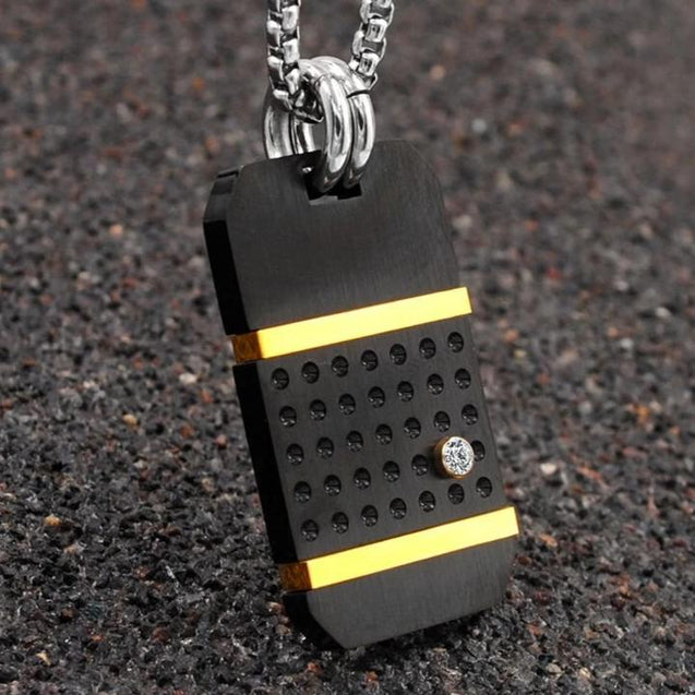 Men Military Dog Tag Pendant Necklace