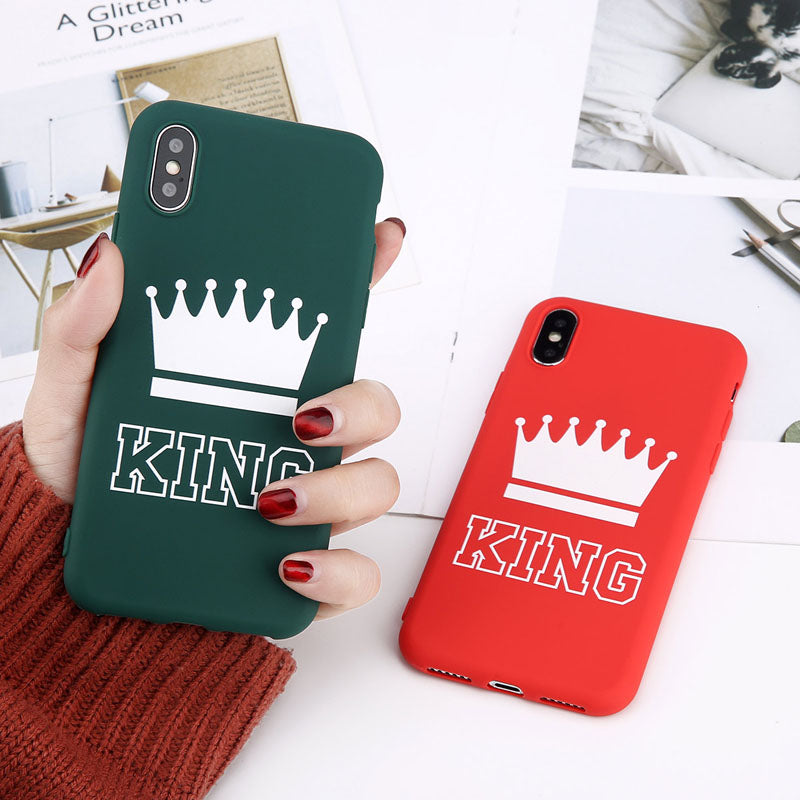 King And Queen Matching iPhone Cases