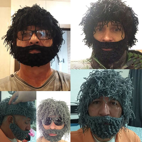 Knitted Beard Beanie Hat