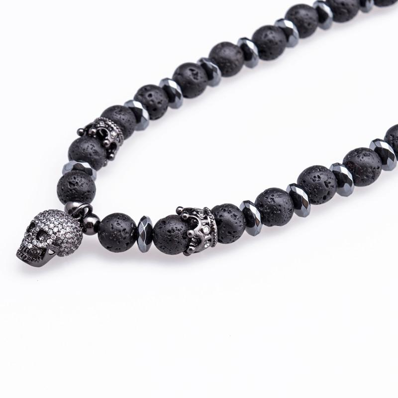 Tiger Eye Stone Skull Necklaces Pendants For Men's