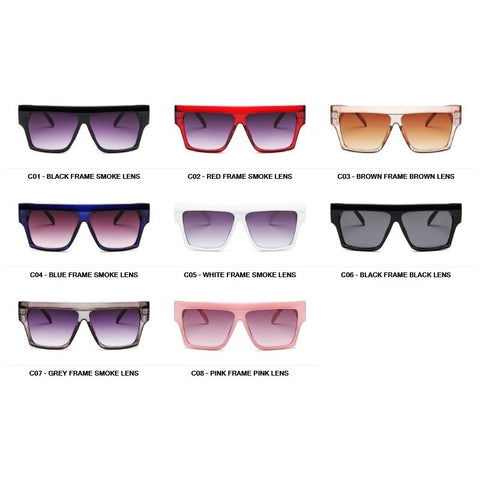 Image of Oversize Square Flat Top Men's Sunglasses