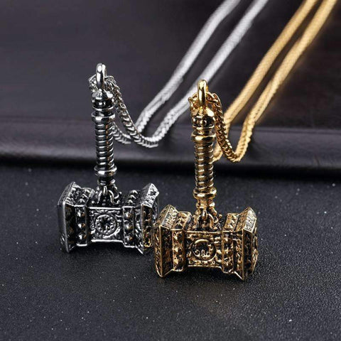 Thor Hammer Pendant Necklace [2 Variation]