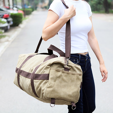 Image of New Canvas Large Capacity Duffle bag
