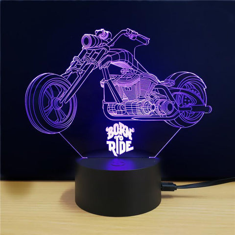 Image of 3D LED Motorcycle Lamp