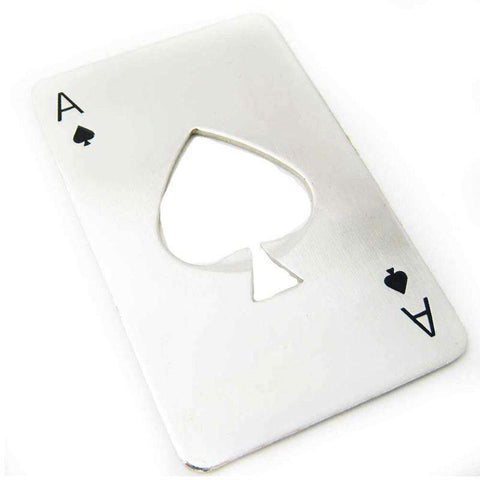Image of Stainless Steel Ace Of Spades Bottle Opener