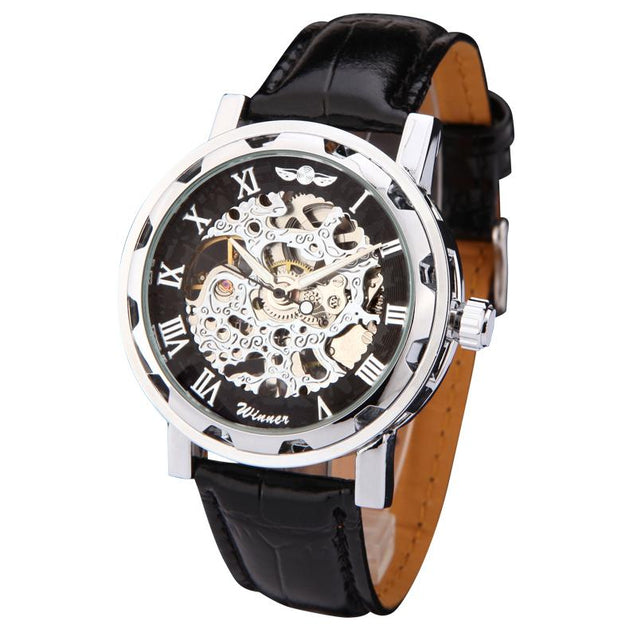 Mechanical Wristwatches With Leather Band