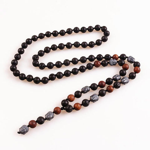 Image of Buddha Stones Beads Long Necklace