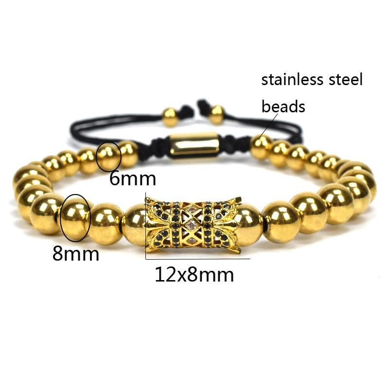 Mens Beaded Jewelry bracelet Set