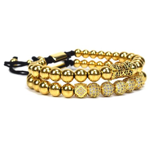Image of Mens Beaded Jewelry bracelet Set